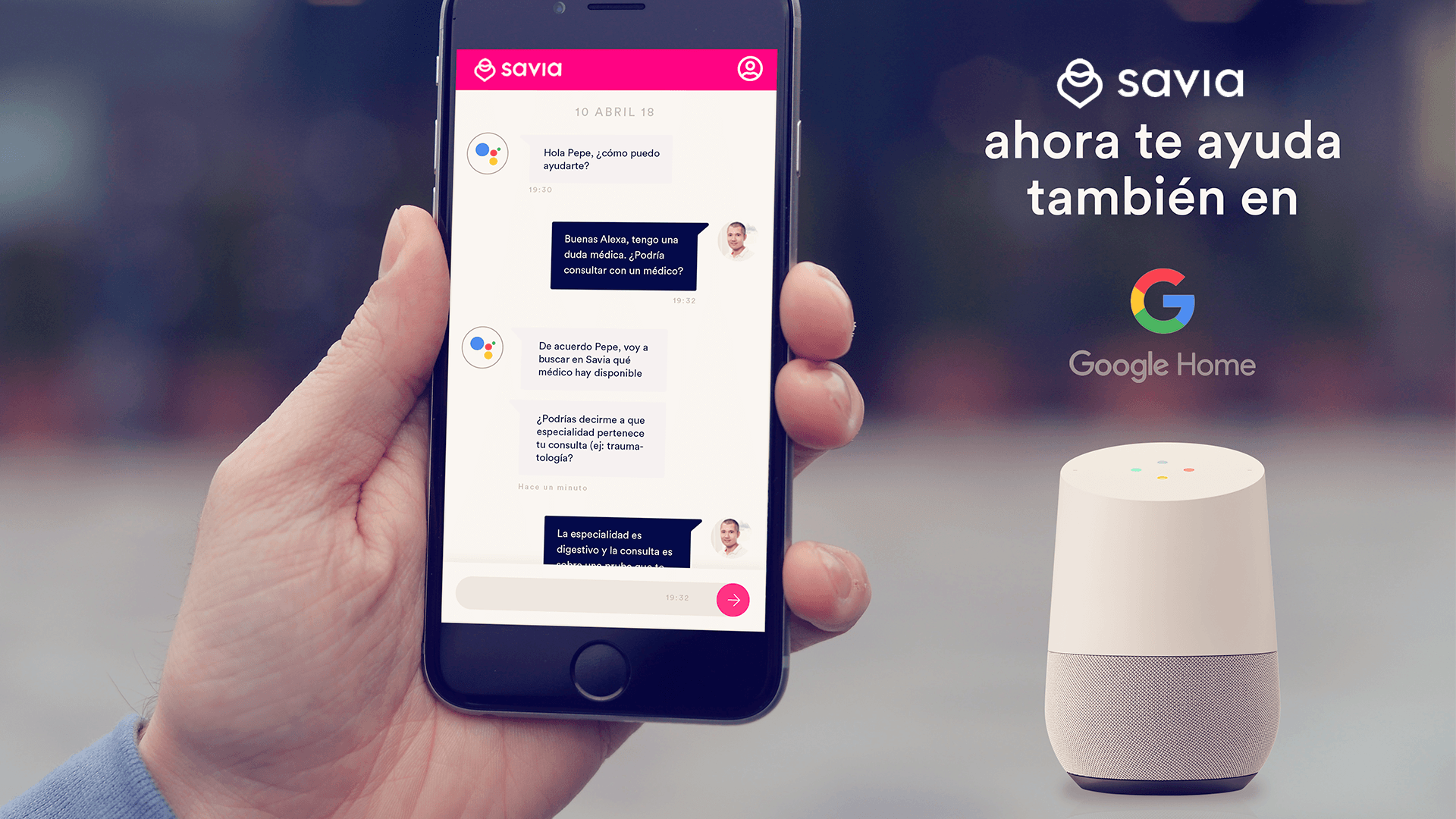 Acción de Google Home