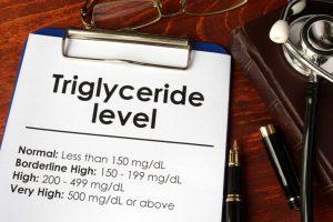 Se considera un nivel normal de triglicéridos hasta un valor de 150 miligramos por decilitro, niveles de entre 150 y 199, se considera en el límite alto, por encima de 200 y hasta 499 se considera elevado-alto y, por encima de 500 mg/dl, muy alto.